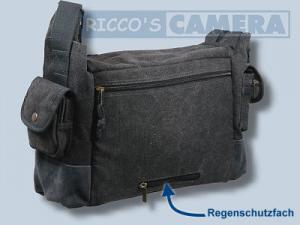 wasserdichte Tasche für Pentax K-70 K-5 IIs K-5 II K-7 K-5 K-m K-r K-x - Kalahari Kapako K-31 Canvas schwarz inkl. Regenschutz - 1