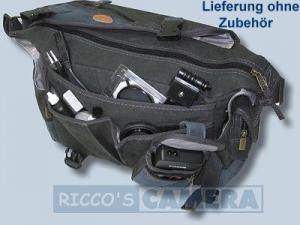 wasserdichte Tasche für Pentax K-70 K-5 IIs K-5 II K-7 K-5 K-m K-r K-x - Kalahari Kapako K-31 Canvas schwarz inkl. Regenschutz - 2