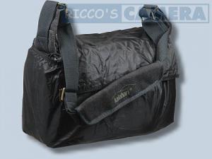 wasserdichte Tasche für Pentax K-70 K-5 IIs K-5 II K-7 K-5 K-m K-r K-x - Kalahari Kapako K-31 Canvas schwarz inkl. Regenschutz - 3