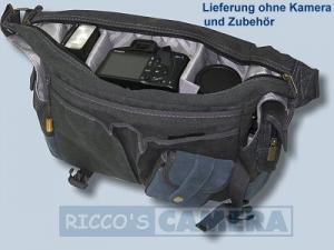wasserdichte Tasche für Pentax K-70 K-5 IIs K-5 II K-7 K-5 K-m K-r K-x - Kalahari Kapako K-31 Canvas schwarz inkl. Regenschutz - 4