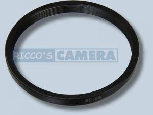 Filteradapter 62 - 58 mm ( Objektiv 62mm / Filter 58mm ) - Step Down Ring Anschlussring Adapterring