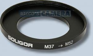 Filteradapter 37 - 52 mm ( Objektiv 37mm / Filter 52mm ) - Anschlussring Adapterring Step Up Ring Hama 13752