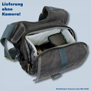 Tasche für Panasonic Lumix DMC-FZ2000 FZ300 FZ1000 II  FZ200 FZ150 - Kalahari KIKAO K-51 Fototasche schwarz Kameratasche k51b - 3