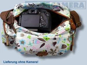 Tasche für Canon EOS 250D 2000D 4000D 200D 77D 800D 1300D 760D 750D 1200D 700D 650D 1100D Fototasche Kalahari K-41 Flower k41f - 2