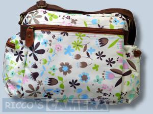 Tasche für Sony Alpha NEX-7 NEX-5N NEX-5 NEX-C3 NEX-3 und Zubehör - Fototasche Kalahari K-41 K41 Molopo Flower K 41 K41f - 1