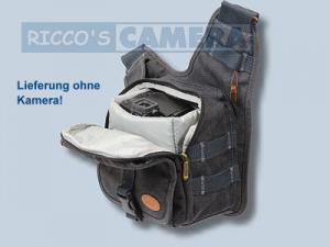 Tasche für Canon EOS M50 M100 M6 M5 M10 M3 100D M - Kalahari KIKAO K-51 Fototasche Canvas schwarz Kameratasche k51b - 3