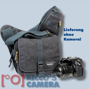 Tasche für Pentax X-5 X5 - Kalahari KIKAO K-51 Fototasche Canvas schwarz für Spiegelreflexkamera Systemkamera Evilkamera k51b - 1