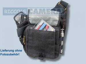 Tasche für Pentax X-5 X5 - Kalahari KIKAO K-51 Fototasche Canvas schwarz für Spiegelreflexkamera Systemkamera Evilkamera k51b - 4