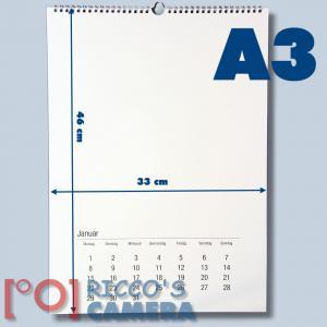 5er Pack Bastelkalender schwarz/weiß für 2018 zum selbst gestalten im Format DIN A3 für Fotos bis 20x30 5 Stk. Fotokalender kka3 - 1