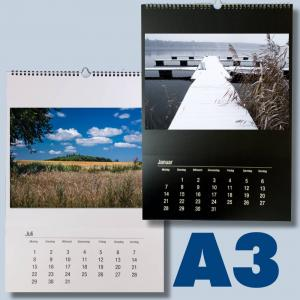5er Pack Bastelkalender schwarz/weiß für 2018 zum selbst gestalten im Format DIN A3 für Fotos bis 20x30 5 Stk. Fotokalender kka3 - 2