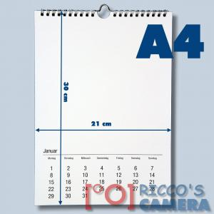 2021 Fotokalender für Fotos bis 13x18 zum selbstgestalten im Format DIN A4 - Bastelkalender Foto Hobbykalender kka4 - 2