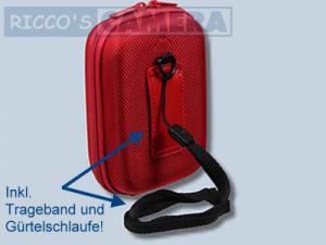 Fototasche in rot für Panasonic Lumix DMC-LF1 LF-1 - Tasche in rot Kameratasche Hardcase 20r - 1