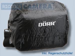 Dörr Yuma Fototasche L schwarz silber - elegante Tasche für Ihre DSLR-Kamera Systemkamera oder Bridgekamera Kameratasche mit Reg - 3