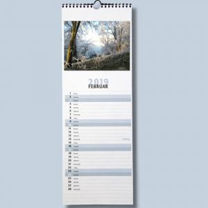 Streifenkalender Fotokalender zum selbstgestalten für 2020 Bildkalender Foto Bastelkalender mit Platz für Termine - 1