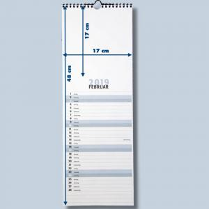 Streifenkalender Fotokalender zum selbstgestalten für 2018 Bildkalender Foto Bastelkalender mit Platz für Termine - 2