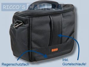 elegante Tasche für Ihre Nikon D90 D80 D50 D70 D70s D60 D40 D40x - Fototasche schwarz silber Kameratasche mit Regenschutz dyl - 2
