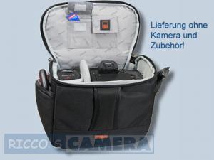 elegante Tasche für Ihre Nikon D90 D80 D50 D70 D70s D60 D40 D40x - Fototasche schwarz silber Kameratasche mit Regenschutz dyl - 4