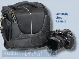 elegante Tasche für Ihre Panasonic Lumix DC-G91 DC-G81 DMC-G70 DMC-G6 DMC-G5 DMC-G3 DMC-G2 DMC-G1 - Fototasche schwarz silber - 1