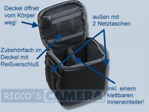 Dörr Action Black No.1 Kameratasche mit Platz für Zubehör - Fototasche für Bridgekamera Systemkamera Evilkamera Digitalkamera Ta - 2