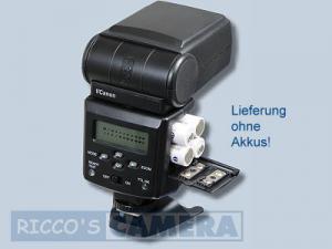 Blitzgerät für Canon EOS 77D 70D 50D 40D 30D 20D 20Da 10D - Dörr Blitzgerät DAF-44 Wi Power Zoom Blitz 44c - 2