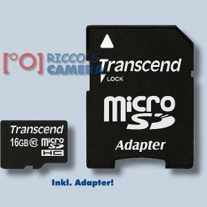 Transcend 16GB MicroSDHC Class 10 UHS-I Micro SDHC Card Speicherkarte SDHC-Karte Memory Card 16 GB Klasse 10 - 1