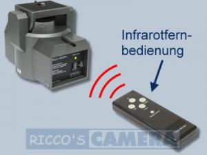 Stativkopf mit Fernbedienung 340 Grad IR inkl. Infrarot-Fernbedienung und Kabel-Fernbedienung Pan Tilt Kopf / Motor Schwenkkopf - 1
