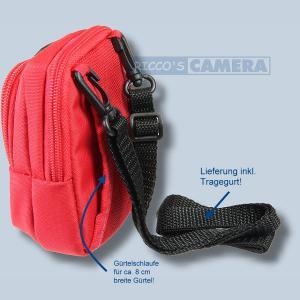 Kameratasche für Nikon Coolpix A10 L27 L18 L16 L29 L4 - Fototasche mit extra Zubehörfach Tasche in rot 32r - 1