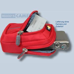 Kameratasche für Panasonic Lumix DMC-ZX3 DMC-ZX1 - Fototasche mit extra Zubehörfach Tasche in rot 32r - 4