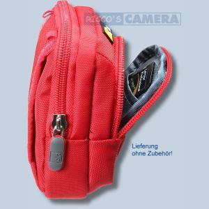 Kameratasche für Sony DSC-HX60 HX60V HX90 HX90V HX20V HX7V HX5V - Fototasche mit extra Zubehörfach Tasche in rot 32r - 2