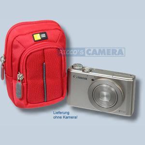 Kameratasche für Sony DSC-HX60 HX60V HX90 HX90V HX20V HX7V HX5V - Fototasche mit extra Zubehörfach Tasche in rot 32r - 3
