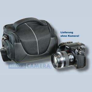 Tasche für Canon Powershot G1 X MIII G1 X MII G1 X G16 Pro 1 Kameratasche mit Regenschutzhülle Fototasche in schwarz/silber ys1 - 2