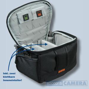Tasche für Canon Powershot G1 X MIII G1 X MII G1 X G16 Pro 1 Kameratasche mit Regenschutzhülle Fototasche in schwarz/silber ys1 - 3