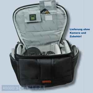Tasche für Canon Powershot G1 X MIII G1 X MII G1 X G16 Pro 1 Kameratasche mit Regenschutzhülle Fototasche in schwarz/silber ys1 - 4