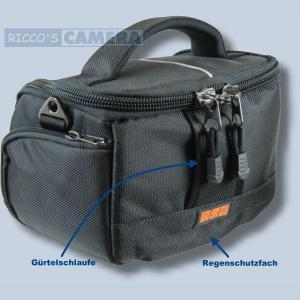 Tasche für Nikon 1 J5 S1 V3 V1 J4 J3 J2 J1 - Kameratasche mit Regenschutzhülle Fototasche in schwarz/silber ys1 - 1