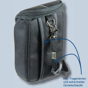 Fototasche für Panasonic Lumix DMC-TZ81 DMC-TZ71 TZ58 TZ61 TZ22 TZ18 TZ56 TZ25 TZ5 - Kameratasche schwarz silber Tasche ykl - 1