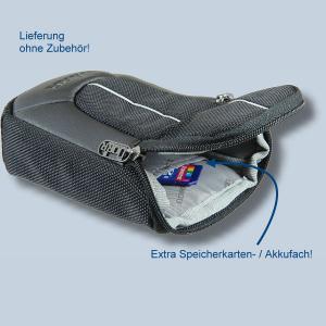 Fototasche für Panasonic Lumix DMC-TZ81 DMC-TZ71 TZ58 TZ61 TZ22 TZ18 TZ56 TZ25 TZ5 - Kameratasche schwarz silber Tasche ykl - 2