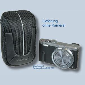 Fototasche für Panasonic Lumix DMC-TZ81 DMC-TZ71 TZ58 TZ61 TZ22 TZ18 TZ56 TZ25 TZ5 - Kameratasche schwarz silber Tasche ykl - 3