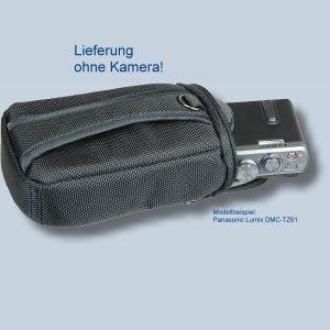 Fototasche für Panasonic Lumix DMC-TZ81 DMC-TZ71 TZ58 TZ61 TZ22 TZ18 TZ56 TZ25 TZ5 - Kameratasche schwarz silber Tasche ykl - 4