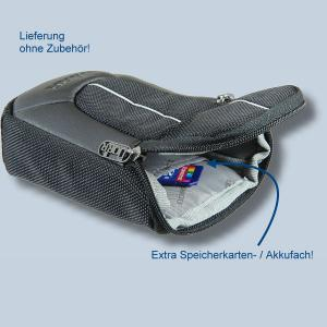 Fototasche für Sony DSC-HX80 HX90V HX90 HX9V HX7V HX5V HX60V HX60 HX50V HX10V HX20V - Kameratasche schwarz silber Tasche ykl - 2