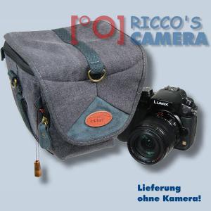 Kalahari GOMO K-42 Canvas schwarz Colttasche für Systemkameras kleine SLR-Kameras Bereitschaftstasche mit Regenschutzhülle k42b - 1