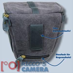 Kalahari GOMO K-42 Canvas schwarz Colttasche für Systemkameras kleine SLR-Kameras Bereitschaftstasche mit Regenschutzhülle k42b - 2