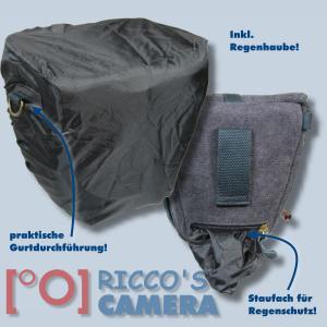 Kalahari GOMO K-42 Canvas schwarz Colttasche für Systemkameras kleine SLR-Kameras Bereitschaftstasche mit Regenschutzhülle k42b - 3
