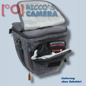 Kalahari GOMO K-42 Canvas schwarz Colttasche für Systemkameras kleine SLR-Kameras Bereitschaftstasche mit Regenschutzhülle k42b - 4