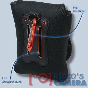 Neoprentasche für Panasonic Lumix DMC-SZ10 DMC-SZ9 DMC-SZ8 DMC-SZ7 DMC-SZ5 SZ1 - Fototasche Kameratasche Tasche schwarz s3n - 1