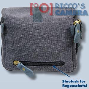 Kalahari GOMO K-43 Canvas schwarz Schultertasche für kompakte Digitalkameras oder kleine Camcorder Kameratasche Regenhülle k43b - 1
