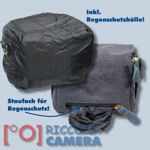 Kalahari GOMO K-43 Canvas schwarz Schultertasche für kompakte Digitalkameras oder kleine Camcorder Kameratasche Regenhülle k43b - 2