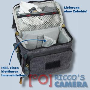 Kalahari GOMO K-43 Canvas schwarz Schultertasche für kompakte Digitalkameras oder kleine Camcorder Kameratasche Regenhülle k43b - 3