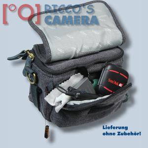Kalahari GOMO K-43 Canvas schwarz Schultertasche für kompakte Digitalkameras oder kleine Camcorder Kameratasche Regenhülle k43b - 4