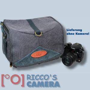 Kalahari GOMO K-45 Canvas schwarz Schultertasche mit Regenschutzhülle für digitale Spiegelreflexkameras oder Systemkameras Evilk - 1