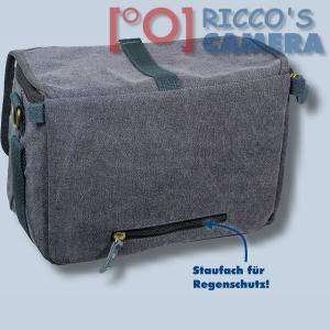 Kalahari GOMO K-45 Canvas schwarz Schultertasche mit Regenschutzhülle für digitale Spiegelreflexkameras oder Systemkameras Evilk - 2